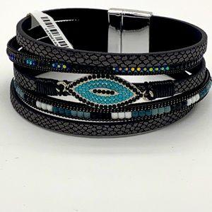 Evil Eye Friendship Multi-strand Bracelet NWT
